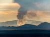 Uitbarstende vulkaan op 50km afstand