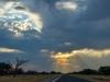 Vreemde wolken boven de Kalahari.