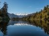 Mt Tasman (l) en Mt Cook (r)