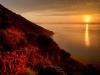 Zonsondergang vanaf de Stromboli