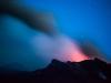 De Stromboli-krater van onder